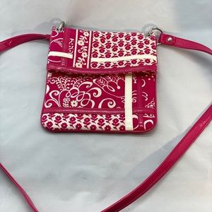 Pink and white Vera Bradley crossbody